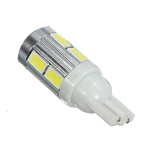 Cikuso 2X Senza ERRORI CANBUS T10 501 W5W 10 LED 5630 SMD Lampadina Lato Bianco Xeno 12V
