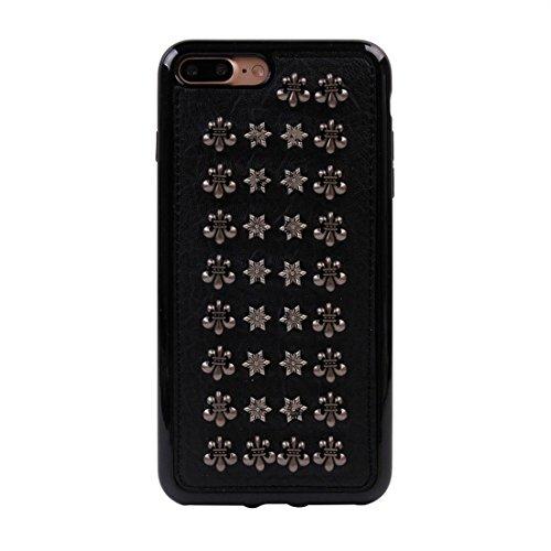 GHC Cases & Covers, Für iPhone 7 Plus Niet-Art-Muster TPU + Metall weicher schützender rückseitiger Abdeckungs-Fall ( SKU : Ip7p1211x ) Ip7p1211x
