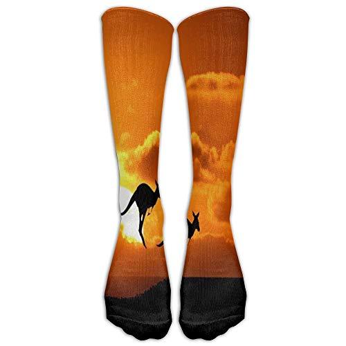 Jeffostie Kangaroo In Sunset Unisex Long Socks Crew Athletic Knee High Strümpfe