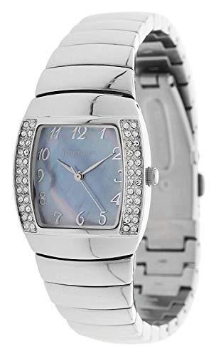 TIME FORCE Reloj Analógico para Mujer de Cuarzo con Correa en Acero Inoxidable TF-4095L01M