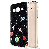 Zhuofan Plus Coque Samsung Galaxy J3 2016, Silicone Transparente avec Motif Design...