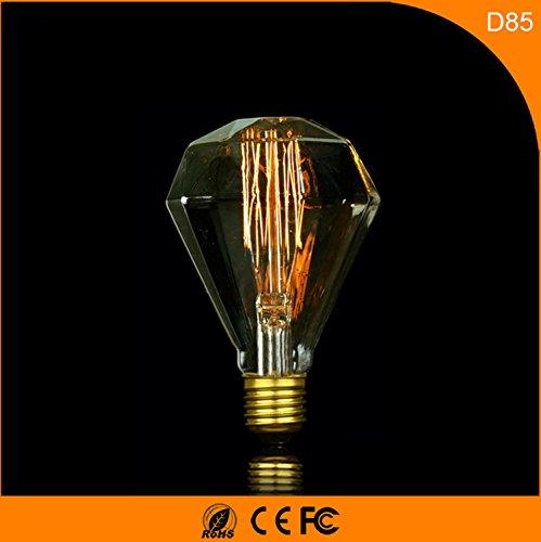 E27 Retro Edison diamante tungsteno Lampadina 220V 4-pack ,