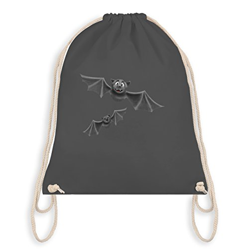 - süße Fledermäuse - Unisize - Dunkelgrau - WM110 - Turnbeutel I Gym Bag (Ideen Auf Halloween Kostüme)