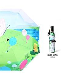 Paraguas Plegables Paraguas Mujer Pequeño Lluvia Fresca Doble Uso Sombrilla Plegable B Paraguas Protector Solar Anti