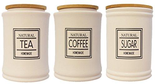 KAFFEEDOSE KLASSIK KERAMIK VORRATSDOSE LANDHAUS KAFFEEDOSE TEEDOSE NOSTALGIE (Groß, Koffee)