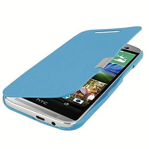 König-Shop Handy Hülle Schutz Tasche Case Cover Schutzhülle für HTC One M8 / M8s hellblau gebürstet