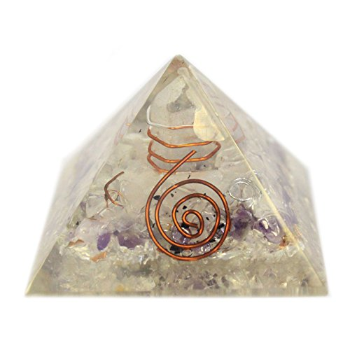 55 mm orgonite pyramid with gem chips and copper