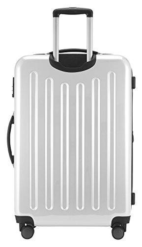 HAUPTSTADTKOFFER - Alex - NEU 4 Doppel-Rollen Großer Hartschalen-Koffer Koffer Trolley Rollkoffer Reisekoffer, TSA, 75 cm, 119 Liter, Weiß - 4