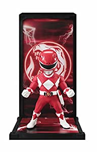 BANDAI- Red Ranger, Figura de 9 cm, Mighty Morphin Power Rangers Tamashii Buddies (BDIPR112068)