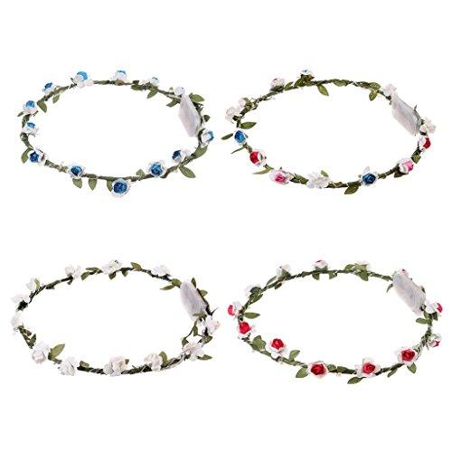 - Blumen-stirnband-licht (Sharplace Blumenstirnband Dekoration für Party Festival Krone Blume Stirnband LED-Licht Haar Kranz Haarband Girlanden)