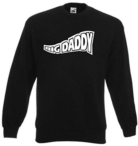 Black Dragon - Sweatshirt Herren & Damen schwarz - L - Fruit of The Loom - Bedruckt - Big Daddy - Fasching Party Geschenk Funshirt