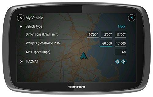 TomTom Trucker 6000 LKW-Navigationsgerät (15 cm (6 Zoll) kapazitives Touch Display, Sprachsteuerung, Click&Go-Halterung, Traffic/Lifetime LKW-Karten) schwarz - 2