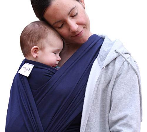 myla elastisches Babytragetuch - Tragetuch bis max. 12kg, weich & anschmiegsam, einfach zu binden, 520cmx54cm passend für jede Trägergröße, hoher Tragekomfort