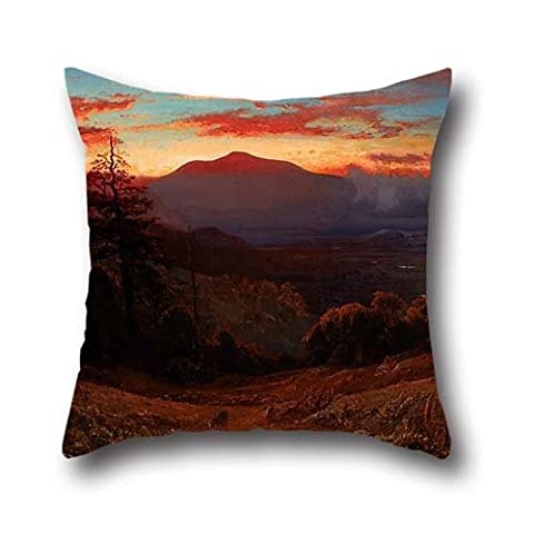 Cushion Cases Of Oil Painting William Keith - Sunset On Mount Diablo (Marin Sunset),for Bedroom,play Room,kids Room,festival,bar,seat 16 X 16 Inches / 40 By 40 Cm(double Sides)