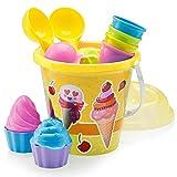 Top Race Beach Toys - Juego de moldes para Helados y Pasteles (14...