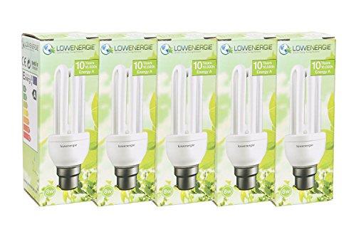BLUE 11W BC Stick CFL Energy Saving Light Bulb