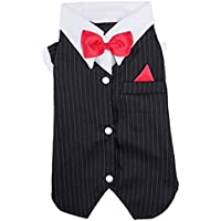 Animali Cucciolo Cane Abiti Cane Completo Abiti forcuta Suit bowknot Wedding Apparel Giacca Camicie Wedding Groom cani (XXL)