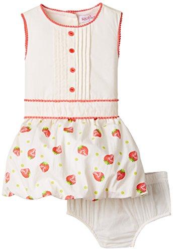 Nauti Nati Baby Girls' Dress (NSS15-997_Cream_6 - 12 months)
