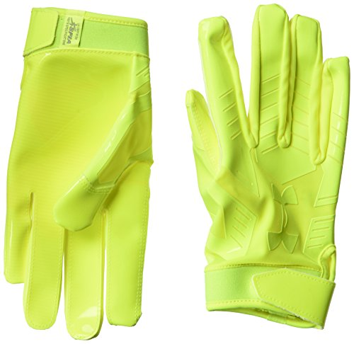 Under Armour UA F6 LE American Football Handschuhe - High Vis Yellow - x-Large