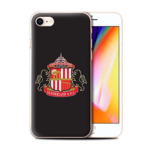 Offiziell Sunderland AFC Hülle / Case für Apple iPhone 8 / Rot/Weiß Muster / SAFC Fußball Crest Kollektion Schwarz