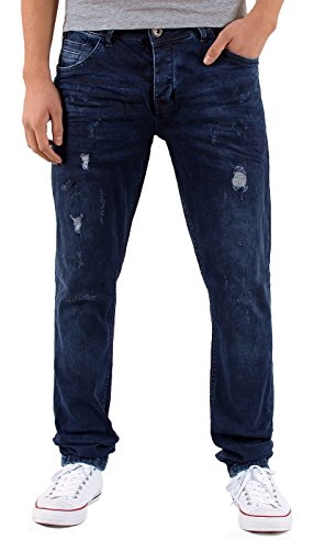 by-tex Herren Jeans Hose Slim Fit Jeanshose Destroyed Look Hose Stretch Used Look Jeans A435 A435