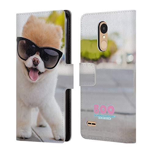 Head Case Designs Offizielle Boo-The World's Cutest Dog Pose Sonnenbrillen Brieftasche Handyhülle aus Leder für LG K8 / K9 (2018)