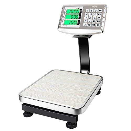 LLRDIAN Elektronische Waage mit 60 kg, handelsübliche kleine Waagen, 50 kg mit elektronischer Waage, Obst-Preiskalkulation für den Haushalt
