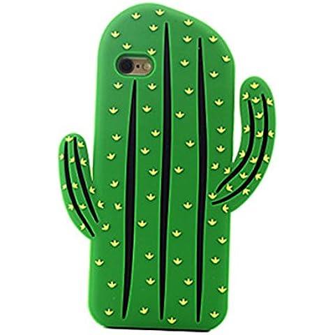 FunnyJay 3D raro creativo Cactus plantas silicona funda (iPhone 6S Plus iPhone 6S iPhone 6 Plus iPhone 6 iPhone SE iPhone 5/5S )(iPhone 6S