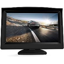 Coche de 5 pulgadas monitor de visión trasera - GOGO Roadless 2 Video Monitor de copia de seguridad de vehículos de entrada para VCD / DVD / GPS / Auto cámara del revés / camiones remolque