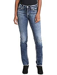Silver Jeans Women s Elyse Relaxed Fit Mid Rise Straight Leg ebf1358f37