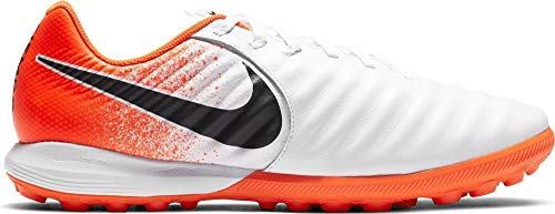 Nike Lunar Legend 7 PRO Tf, Scarpe da Calcetto Indoor Unisex-Adulto, Multicolore (White/Black/Hyper Crimson 000), 39 EU