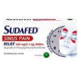 Sudafed Sinus Pain Relief 200mg/6.1mg Tablets 16S