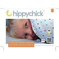 Hippychick Mattress Protector Flat Sheet, 200 x 150 cm - Double, White