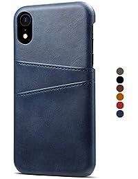 dd1e96d1a0318 HARRMS Apple iPhone X XS XR XS Max Kunst Leder Case Hülle Cover Handytasche  mit Kartenfach Kredit Karten Hülle Handy Schutzhülle