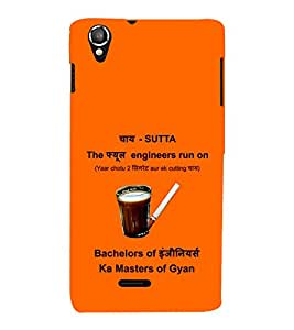 Print Masti Designer Back Case Cover for Lava Iris X8 (Tea Engineer Bechelor Engineer Master)