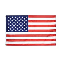 Yafeco American USA US Flag 3x5 ft Vivid Color and UV Fade Resistant Canvas Header and Double Stitched - USA Flags with Brass Grommets