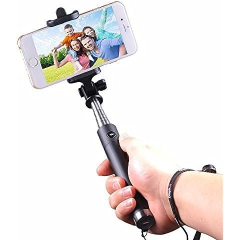 Cootree Winnersun - Extensible selfie Stick / auto monopie tiroteo con una función de disparo a distancia Bluetooth para el iPhone 6, 6 plus, 5s, 5c, 5, 4S, SAMSUNG Note4, Note3, 2, Note Galasy S5, S4, S3, LG, BlackBerry etc. IOS / La mayoría de los teléfonos inteligentes android, palillo androide inteligente (Negro y