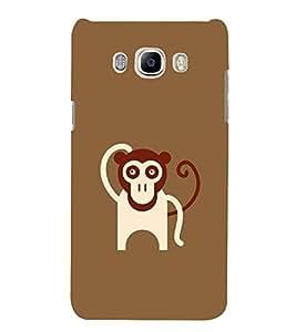 FUSON Animal Monkey Cartoon Theme 3D Hard Polycarbonate Designer Back Case Cover for Samsung Galaxy J5 (6) 2016 :: Samsung Galaxy J5 2016 J510F :: Samsung Galaxy J5 2016 J510Fn J510G J510Y J510M :: Samsung Galaxy J5 Duos 2016