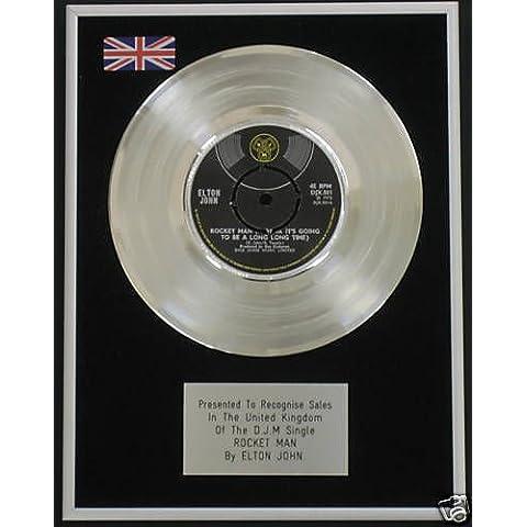 Elton John - 17,78 cm de disco de platino - Rocket Man