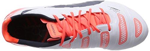 Puma Evopower 1.2 Fg, Chaussures de Football homme Blanc (White/Total Eclipse/Lava Blast)