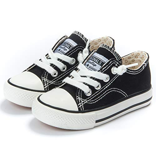 Weestep Toddler/Little Kid Boys and Girls Slip on Canvas Sneakers