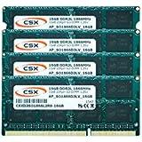 'CSX, 64Go Dual Channel Kit de 4x 16GB 204broches DDR3–1866SO-DIMM (1866, PC3L 14900s, CL13) compatible avec Apple iMac 27Retina 5K (Late 2015)