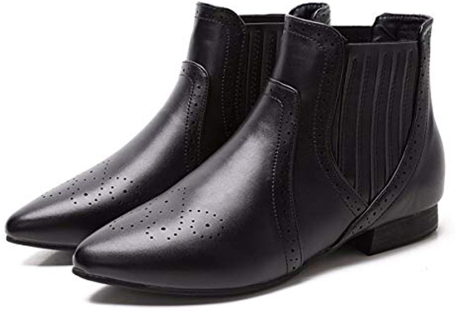 KOKQSX-Signore Gli Gli Gli Stivali Cuoio Moda Conforto Breve Stivali Chelsea stivali. 40 nero | Online Store  7e7706