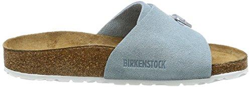 Birkenstock Vaduz Leder Softfootbed, Ciabatte Unisex – Adulto Blu (blu chiaro)