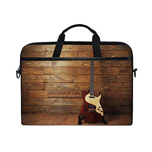 Ahomy Laptoptasche für E-Gitarre auf Holz, multifunktional, Stoff, wasserdicht, Laptoptasche, Aktentasche, Schultertasche -