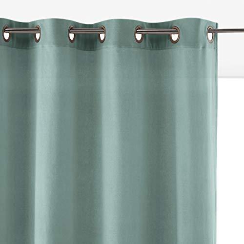 La Redoute Interieurs Vorhang Velvet Aus Samt Mit Osen Gre 220 X 135 cm Blau -