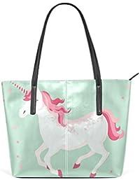 COOSUN Unicornio de la PU de Cuero Bolso Monedero y Bolsos de la Bolsa de Asas  para Las Mujeres Medio… 4e74f72595cf1