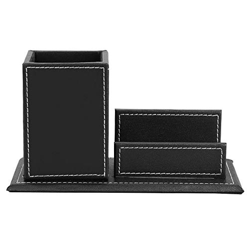 Mlpus porta biglietti da visita porta business moda portapenne porta biglietti da visita multifunzione per ufficio (colore : nero)