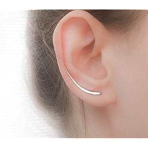 Silber Ohrklemme ohrringe, ohrspange Sterling Silber Ohr Kletterer, Silberne Ohrringe, Ohr Crawler
