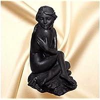 Schungit Figur auf Schungitsockel, 16 cm, ca.1000 g, Karelien-Rußland,mit Zertifikat. preisvergleich bei billige-tabletten.eu
